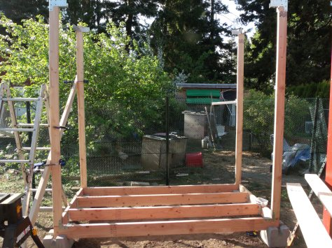 Day 2 of the Turkey Coop Build